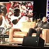 "David ""Big Papi"" Ortiz relaxes on the Fenway-ized LMA stage."