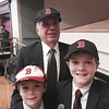 Sam Poulten of Chelmsford with grandchildren Ben and Jacob Morse of Framingham