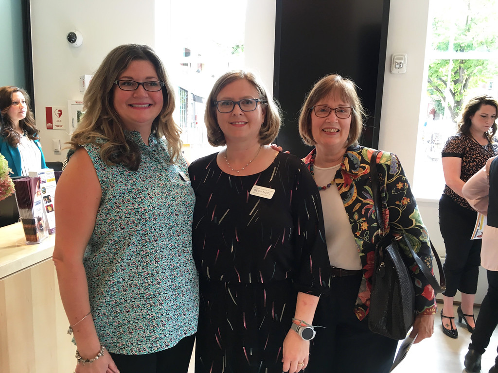 . From left, MCC�s Mandy Vozzo Willis of Dracut, Beth Noel of Lowell and Kathy Register of Bedford
