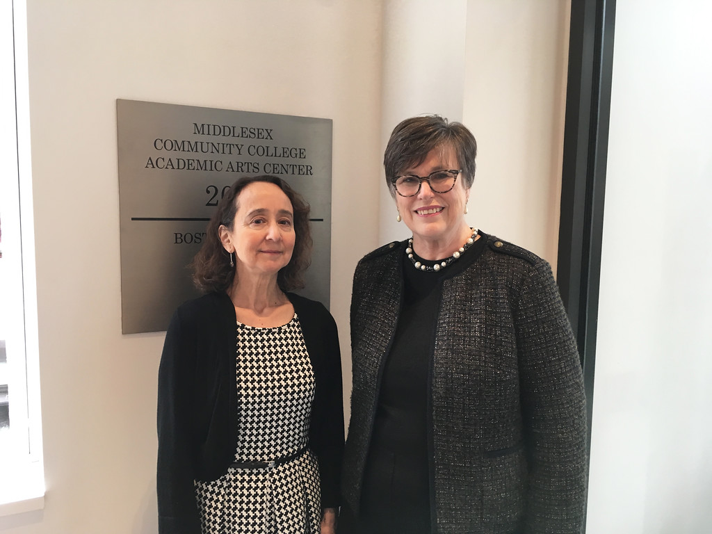 . MCC Music Chairwoman Carmen Rodriguez Peralta and Dean of Arts and Humanities Ellen Nicholas, both of Arlington