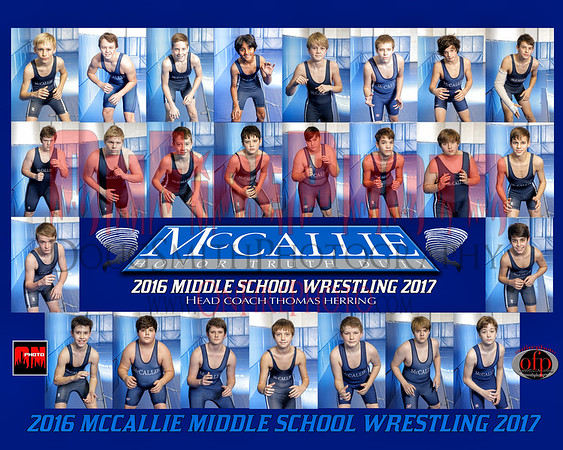 A2 - MCCALLIE MS WRESTLING TEAM 8X10 2017