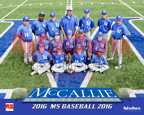 MCCALLIE MS BASEBALL 2016