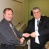 January 2016 - Commission chair Ron Holmes welcomes new Commission member, Ross Cunningham of Lisbon.