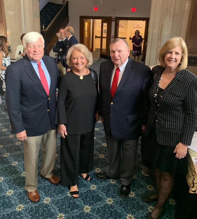 . From left, Roger and Margie Landry, and Lowell Sun Charities President Terry McCarthy and his wife, Kathleen, of Lowell