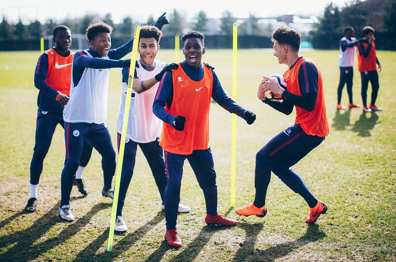 Manchester City U18 Training