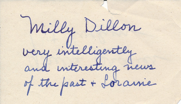 2016-038  54 Letters Mostly Written by Mildred Dillon  8/1941 - 4/1964