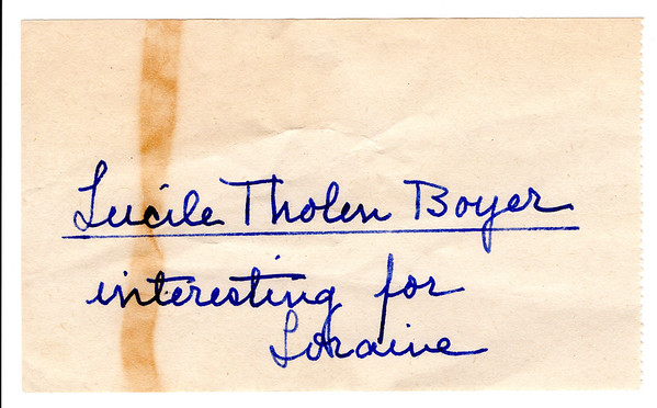 2017-001  Letters from Lucille Tholen Boyer