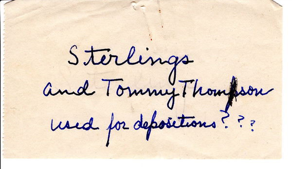 2017-002 Letters from Sterlings and Tommy Thompson