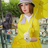 MCM Manchester Comic Con 2016, Cosplay, Cosplayer, Female, Books, Film, TV, Disney, Jane, Hat, Dress, Skirt, Tie, Bow, Gloves, Parasol, Umbrella, White, Cream, Yellow, Brunette, Brown, Pleat, Wig