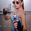 MCM Manchester Comic Con 2016, Cosplay, Cosplayer, Female, Video Games, Comics, Films, Lara Croft, Tomb Raider, Sony Playstation, Xbox, Explorer, Archeologist, Adventurer, Tank Top, Vest, Shorts, Utility Belt, Gun Holster, Boots, Socks, Gloves, Guns, Glasses