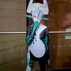 MCM Manchester Comic Con 2016, Cosplay, Cosplayer, Female, Video Game, Nintendo, Legend Of Zeld, Legend Of Zelda Twilight Princess, Twili, Princess, Hyrule, Imp, Demon, Mask, Helmet, Symbols, Black, Blue, White, Orange, Silver