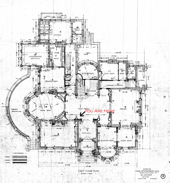 Architectural Plans Of The Magic Chef Mansion - Magic Chef Mansion