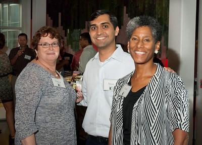 Patti (USF Health Alumni Director), Aman '07 and Alicia Monroe (Vice Dean)