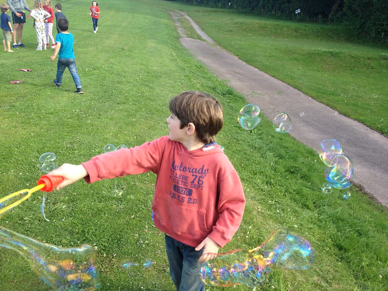 There is something about bubbles, I had to ensure they worked properly before the children could have a go ;-)