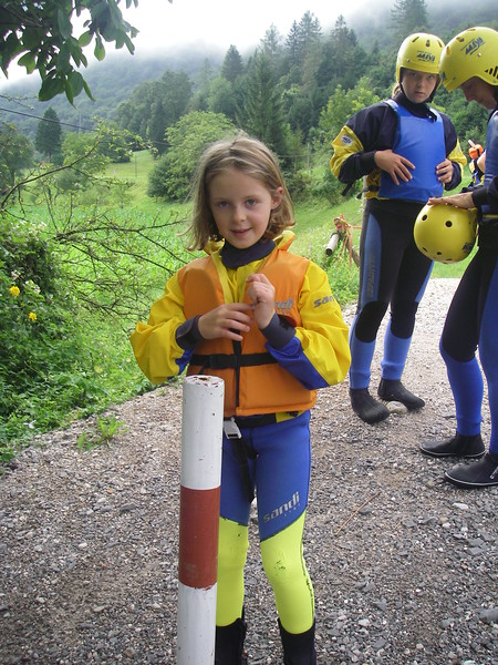 Jasmine went rafting to. On a calmer section. The Soča  has a section for everyone