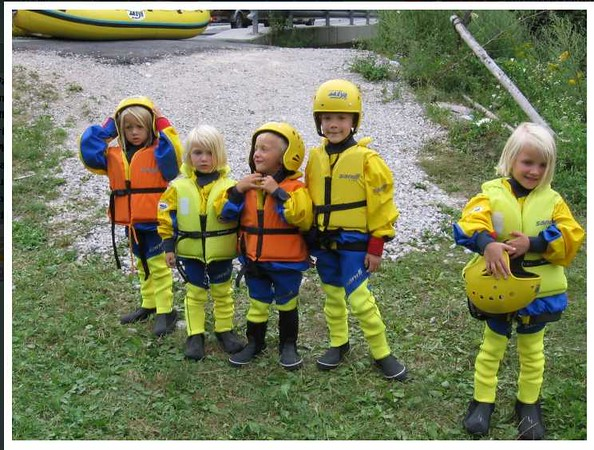 Not our group, but just to show, how small you can be & still have some safe fun on the Soča