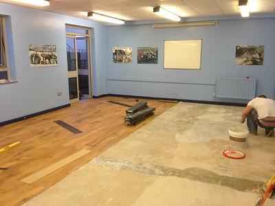 Renewing the dinning room floor