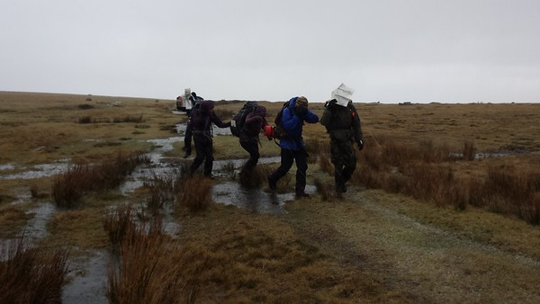 Ten Tors Practise in the snow