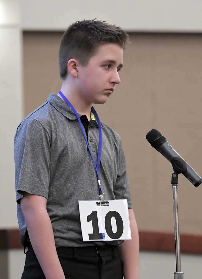 2018 Macomb Regional Spelling Bee. MACOMB DAILY PHOTO BY DAVID DALTON