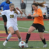 The Macomb Lutheran North Mustangs defeated the Almont Raiders 7-0 in the MHSAA D3 soccer regional semi-final played on Tuesday June 6, 2017 at Troy Athens HS.  (MIPrepZone photo by Ken Swart)