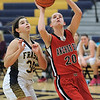 Vanna Pratte (20) of Anchor Bay puts up a shot during the match between Fraser and Anchor Bay on January 24, 2017. (MIPrepZone photo gallery by David Dalton)