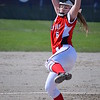 Anchor Bay's Skye Norris delivers a pitch against Stevenson. (MIPrepZone photo gallery by Chuck Pleiness)