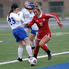 Rachel Russo of Anchor moves the ball down the field during the match between Anchor Bay and Lakeview on May 5, 2017.  (MIPrepZone photo gallery by David Dalton)