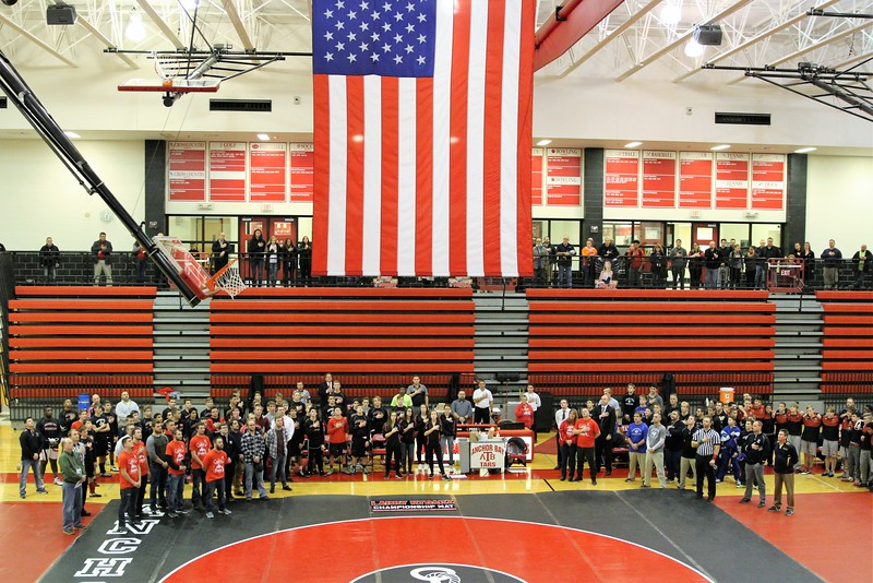 Photos of the wrestling mat dedication to honor the late Larry Rybarz III on December 6, 2017. THE MACOMB DAILY PHOTO GALLERY BY GEORGE SPITERI. Anchor Bay hosted Chippewa Valley, Eisenhower and Fraser for a quad on December 6, 2017. THE MACOMB DAILY PHOTO GALLERY BY GEORGE SPITERI.