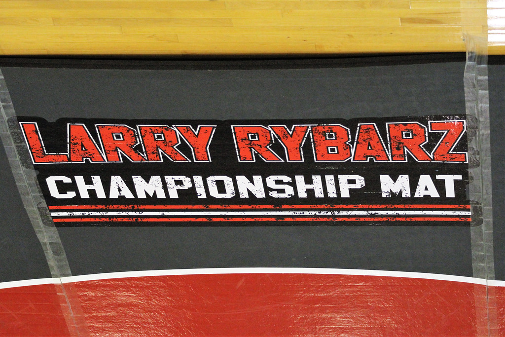 . The Larry Rybarz Championship Mat is unveiled at Anchor Bay in memory of the former Tars wrestler. THE MACOMB DAILY PHOTO GALLERY BY GEORGE SPITERI.