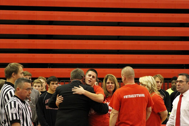 Photos of the wrestling mat dedication to honor the late Larry Rybarz III on December 6, 2017. THE MACOMB DAILY PHOTO GALLERY BY GEORGE SPITERI.