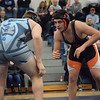 Nathan Nowik of Armada takes on Richmond's Tyler Marino at 215 pounds. (MIPrepZone photo gallery by George Pohly)