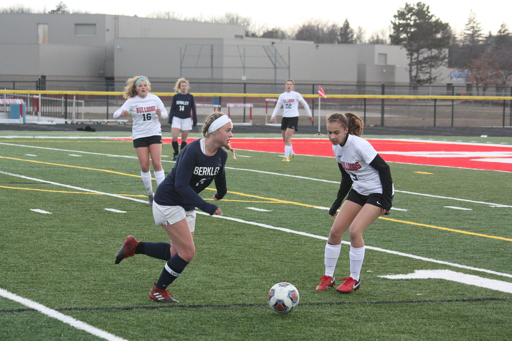 . Romeo defeated visiting Berkley 1-0 in a non-league soccer match on April 10, 2018. (Photo gallery by Kevin Lozon)