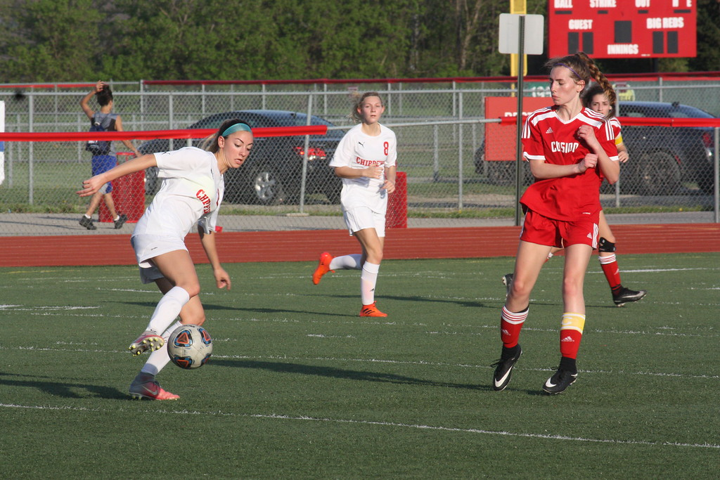 . Chippewa Valley defeated visiting Cousino 8-0 in a MAC Blue Division match on May 14, 2018. (Photo gallery by Kevin Lozon)
