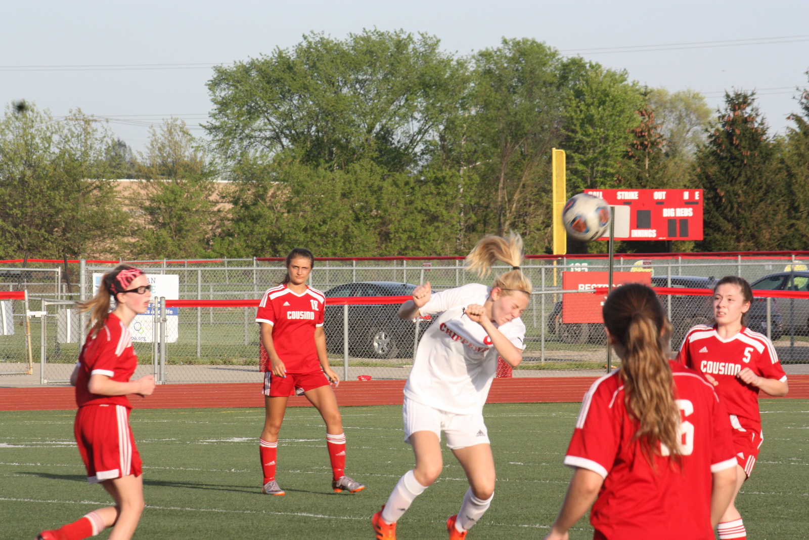 Chippewa Valley defeated visiting Cousino 8-0 in a MAC Blue Division match on May 14, 2018. (Photo gallery by Kevin Lozon)