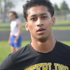 Omar Uddin of Sterling Heights won the 1600 run against Cousino. Cousino won the girls meet and Sterling Heights won the boys as the Warren Consolidated rivals met in MAC Blue Division track & field on April 18, 2017. (MIPrepZone photo gallery by George Pohly)
