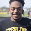 Sterling Heights' Kauron Oatman won the high and intermediate hurdles against Cousino. Cousino won the girls meet and Sterling Heights won the boys as the Warren Consolidated rivals met in MAC Blue Division track & field on April 18, 2017. (MIPrepZone photo gallery by George Pohly)