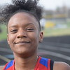 Taleur Heath of Cousino won the 400 dash against Sterling Heights. Cousino won the girls meet and Sterling Heights won the boys as the Warren Consolidated rivals met in MAC Blue Division track & field on April 18, 2017. (MIPrepZone photo gallery by George Pohly)