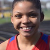 Anisah Milton of Cousino won both hurdles races against Sterling Heights. Cousino won the girls meet and Sterling Heights won the boys as the Warren Consolidated rivals met in MAC Blue Division track & field on April 18, 2017. (MIPrepZone photo gallery by George Pohly)