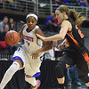Kierra Fletcher (3) of Cousino moves in to put up a shot during the match between Flushing and Cousino on March 17, 2017.  (MIPrepZone photo gallery by David Dalton)