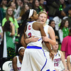Kierra Fletcher (3) of and Late McArthur of Cousino during during the final moments of the match between Flushing and Cousino on March 17, 2017.  (MIPrepZone photo gallery by David Dalton)