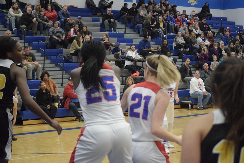 Cousino defeated Sterling Heights 57-14 in a Class A girls district basketball championship game at Warren Woods-Tower on Friday, March 2.  THE MACOMB DAILY PHOTO GALLERY BY GEORGE POHLY