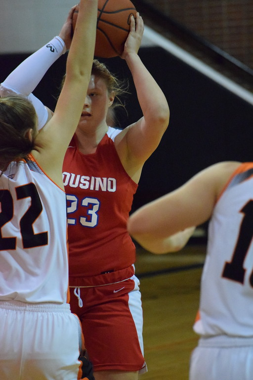 . Cousino beat Utica, 54-45, in the opening round of the MAC Red/White Division Tournament on February 12, 2018. THE MACOMB DAILY PHOTO GALLERY BY CHUCK PLEINESS