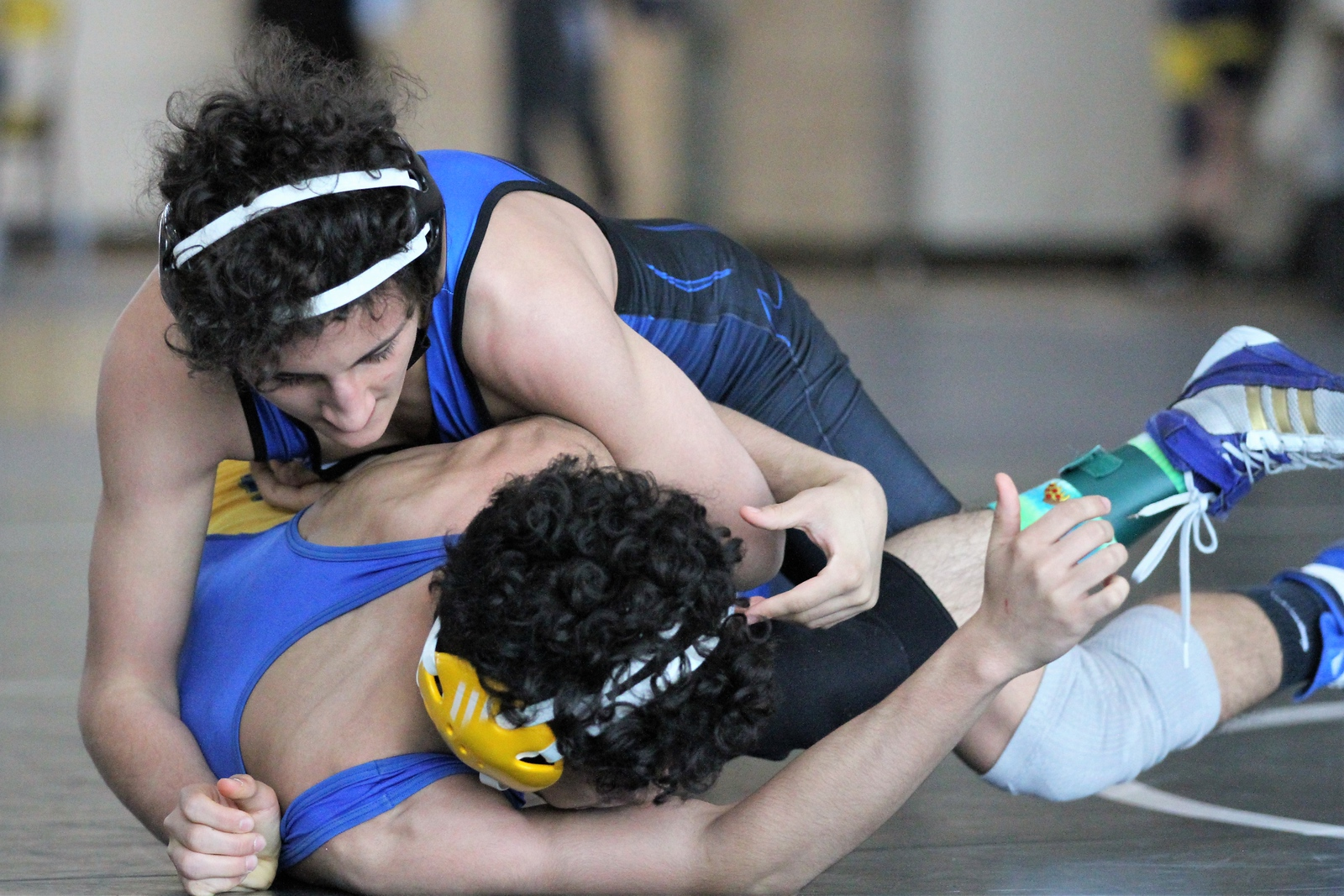 David Stepanian of Warren Woods-Tower pins Fitzgerald's Dajuon Jones in the 119 weight class to advance to the finals. The Division 2 individual wrestling districts were hosted at Fitzgerald on February 10, 2018. THE MACOMB DAILY PHOTO GALLERY BY GEORGE SPITERI