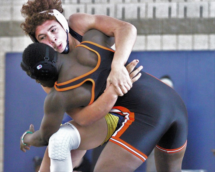 Fitzgerald's Taye Ghadiali got a semifinal win over Jakarris Vereen of Center Line in the 189 weight class. The Division 2 individual wrestling districts were hosted at Fitzgerald on February 10, 2018. THE MACOMB DAILY PHOTO GALLERY BY GEORGE SPITERI