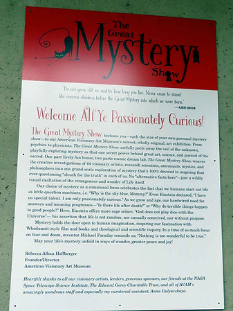 The Great Mystery Show sign, February 24, 2018