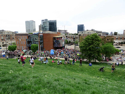 opening festivities, seen from Federal Hill