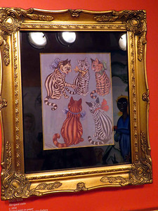 """Striped Cats"" by Louis Wain, February 24, 2018"