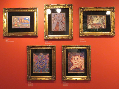 The Mysterious Cat  -  paintings by Louis Wain, February 24, 2018