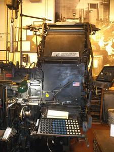 linotype machine, Baltimore Museum of Industry, September 2015