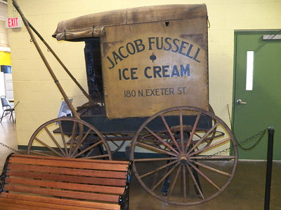 ice cream wagon, Baltimore Museum of Industry, September 2015
